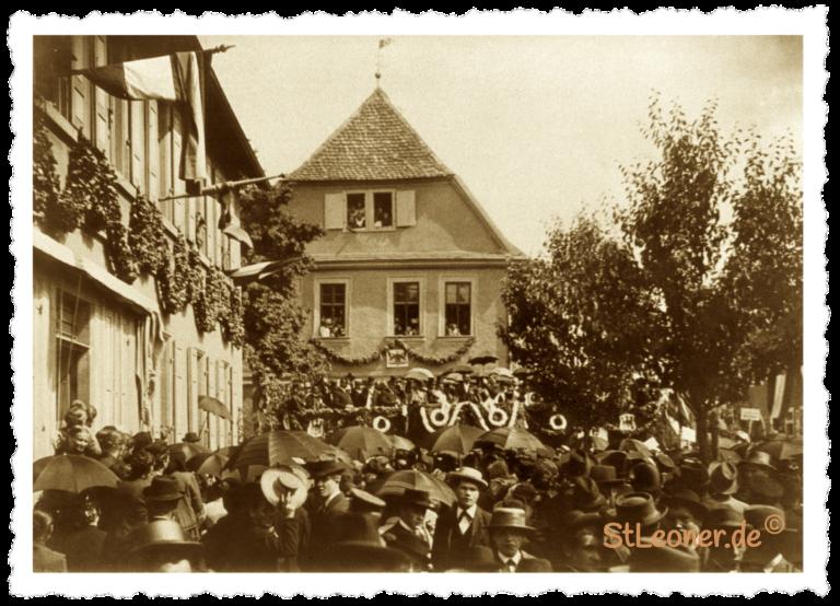 Fahnenweihe des kath. Arbeitervereins 1896